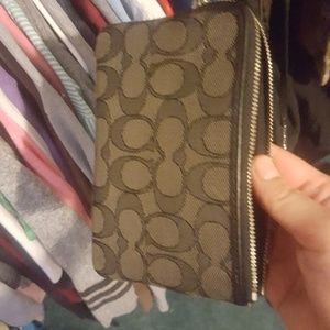 Coach Bags - Never used black and gray coach wristlet
